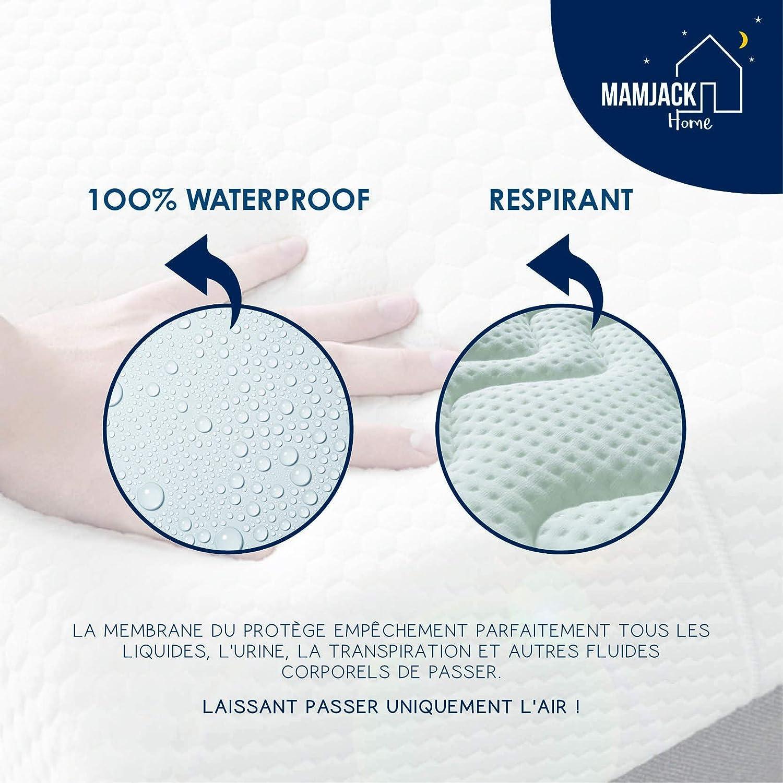 Protection Oreiller avec Traitement Aegis Lot de 2 Protege Oreillers Impermeables 40x70cm Anti-Bact/érien Respirant - Standard OEKO-TEX 100 et Garantie 15 ans Anti-Acarien Hypoallerg/énique