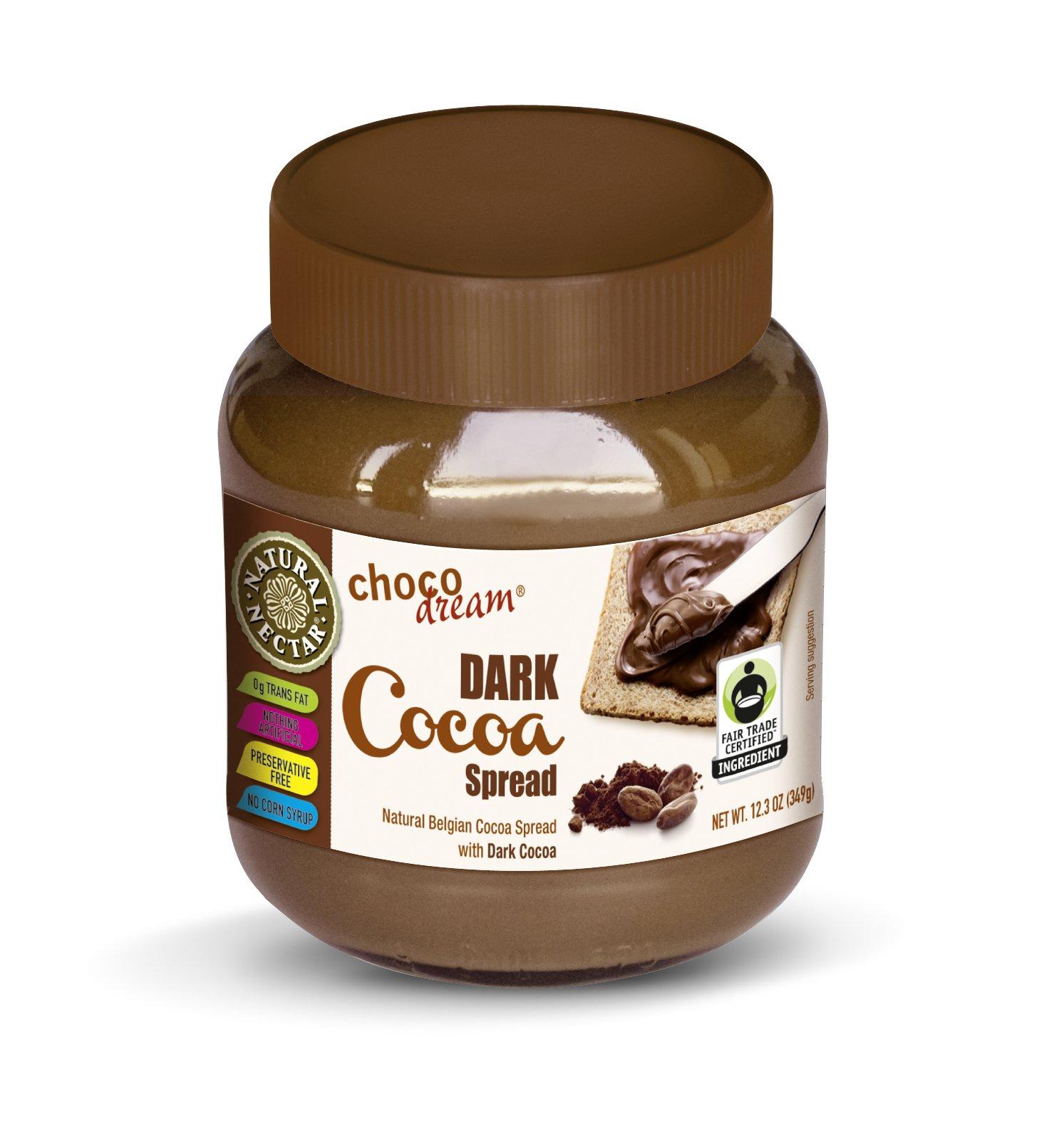 Natural Nectar Dark Chocolate Spread, Choco Dream, 12.3 Ounce (Pack of 6)