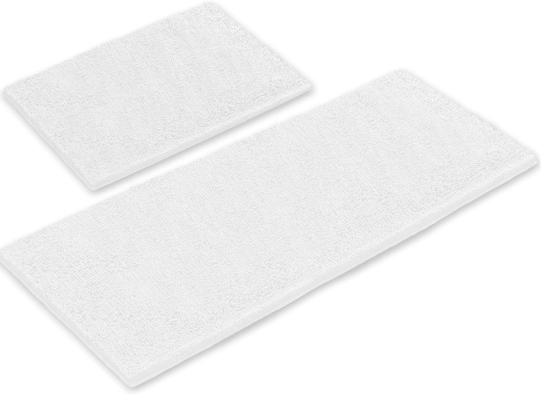 LuxUrux Bathroom Rugs 2 Piece Set–Extra-Soft Plush Bath mat Shower Bathroom Rugs,1'' Chenille Microfiber Material, Super Absorbent
