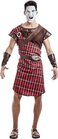 Disfraz de Guerrero Escocés Rojo Talla M/L: Amazon.es: Juguetes y ...