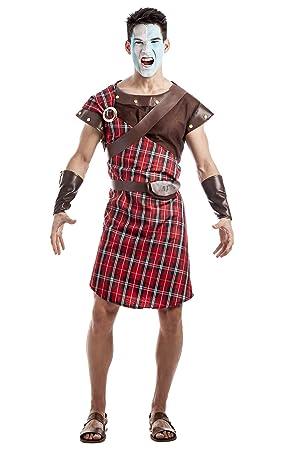 Disfraz de Guerrero Escocés Rojo Talla M/L