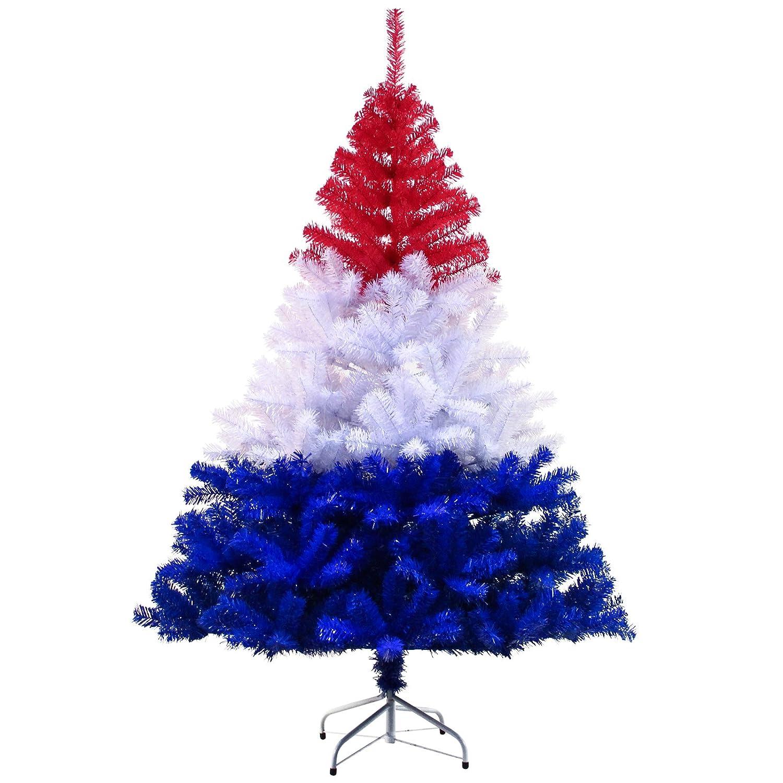 Hiskøl 180 cm ca. 880 Astspitzen Künstlicher Weihnachtsbaum Tannenbaum Christbaum inklusive Christbaumständer, Nationalfarbe Deutschland (Schwarz ...