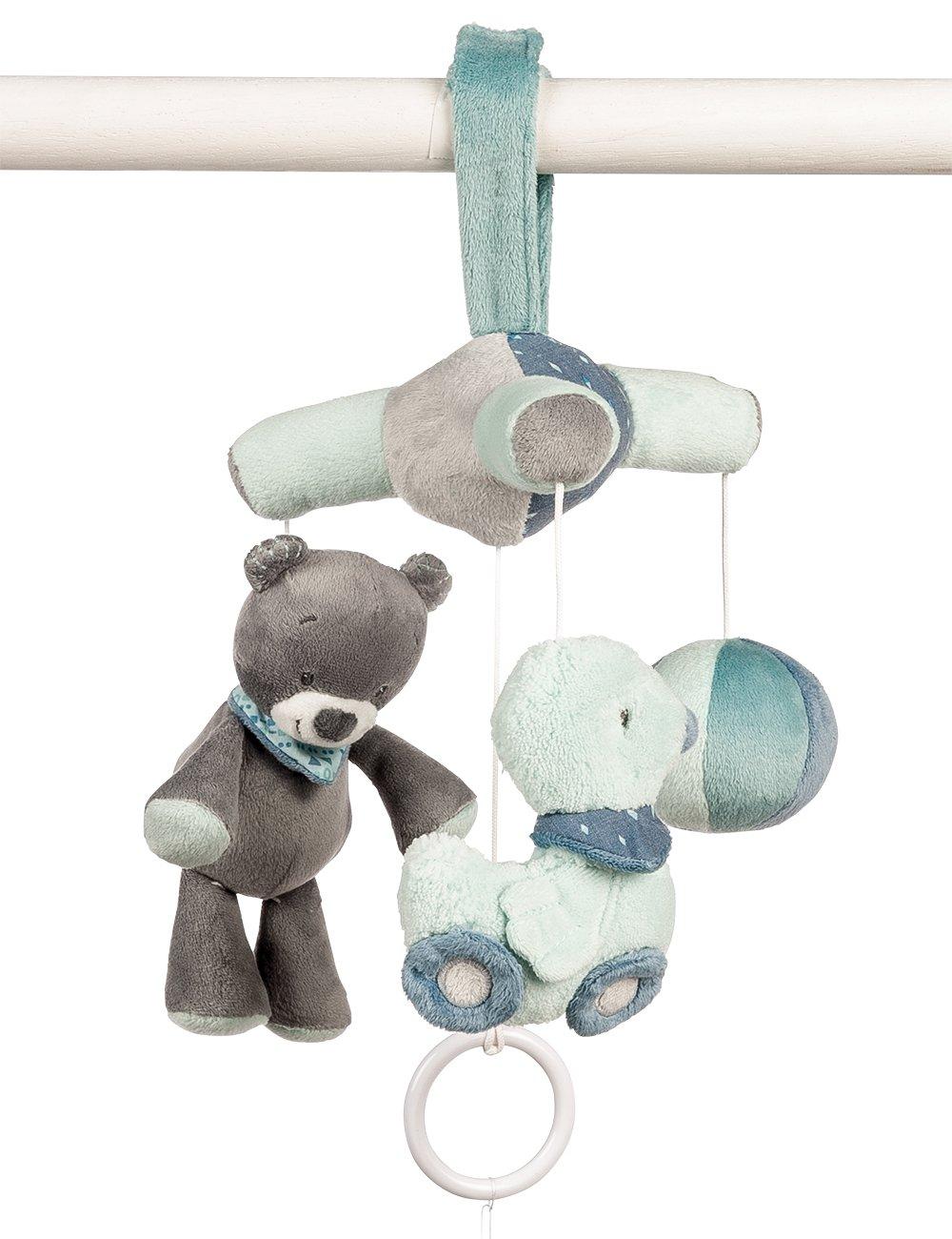 Nattou Alex y Bibou- Colgante musical para bebés, Mini NATALE321235