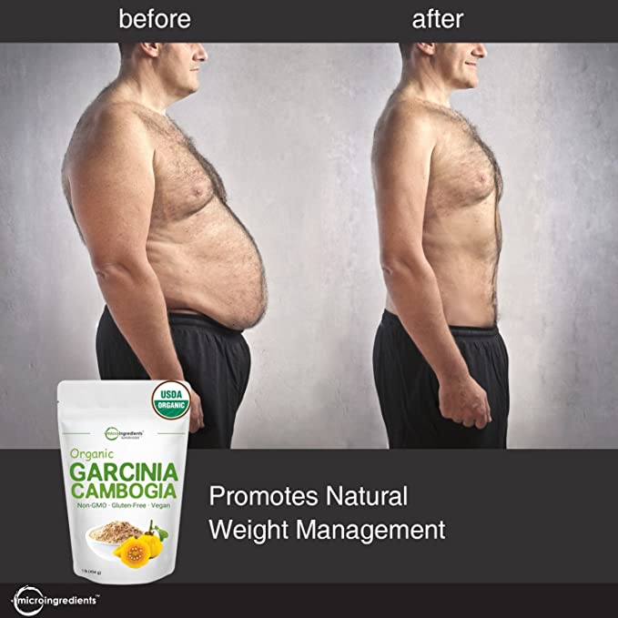 Amazon Com Organic Garcinia Cambogia Weight Loss Powder 1 Pound 454 Grams Pure Garcinia Supplement Natural Appetite Suppressant And Fat Burn Supplements For Men And Women No Gmos And Vegan Friendly Health