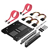 Inateck SSD Mounting Bracket 2.5 to 3.5 with SATA Cable and Power Splitter Cable, ST1004