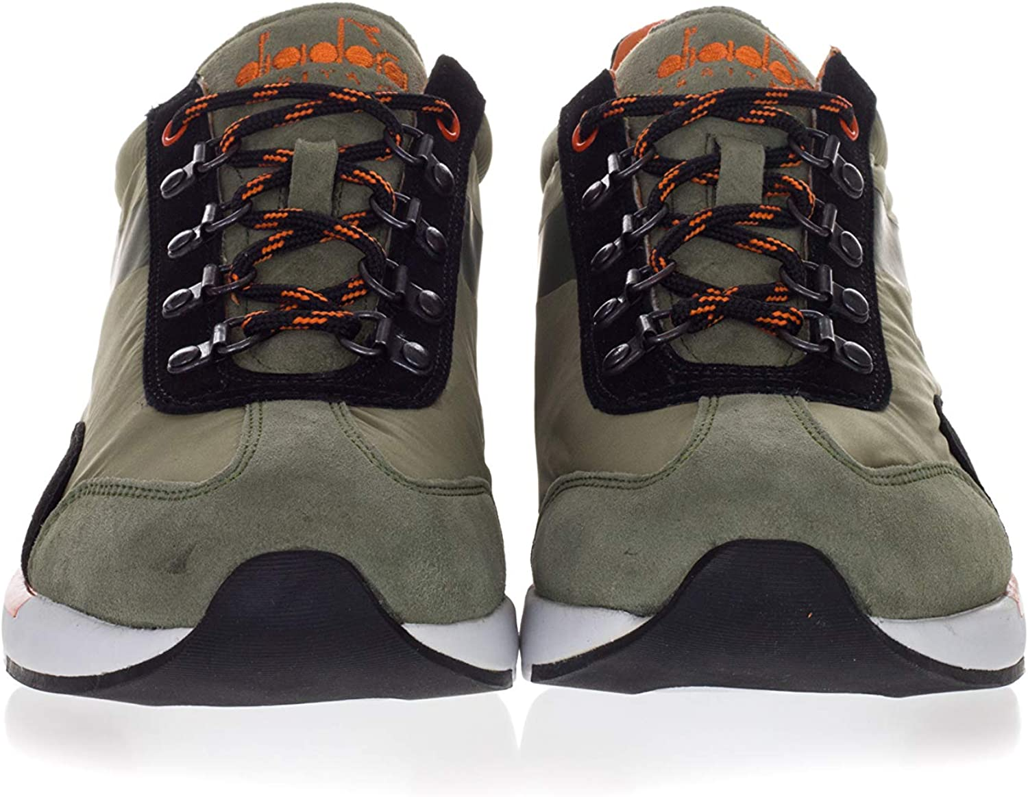 Diadora Heritage Mens Shoes Equipe Evo Technical Fabric and Suede Sneakers Green