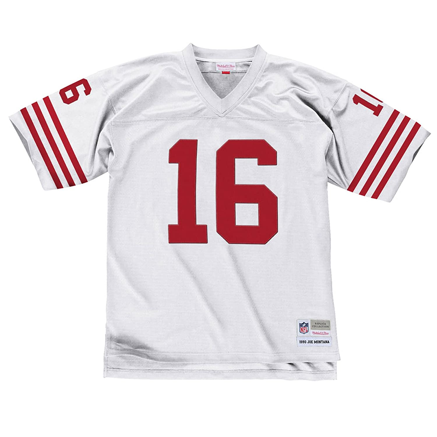 best sneakers 97836 1a90f Mitchell & Ness Joe Montana San Francisco 49ers White Throwback Jersey