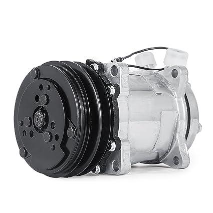 Mophorn AC Compressor & Clutch Replaces Sanden SD508 Model for CO 4510C  Freightliner ABPN83304052 Mack 4510SAN 304052 Kenworth 4509 4510 6626 6664