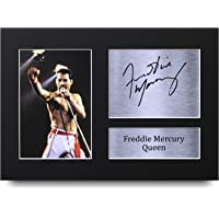 HWC Trading Freddie Mercury Gifts Signed A4 Printed Autograph Queen Gift Music Gift Print Photo Picture Display