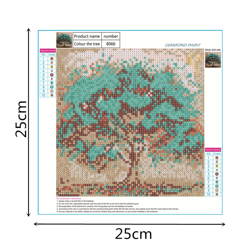 Tree2 DIY 5D Painting with Diamonds Full Drill Diamond Dots Rhinestone Picture
