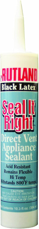 Rutland Seal it Right 800-Degree Latex, 10.3-Ounce Cartridge, Black