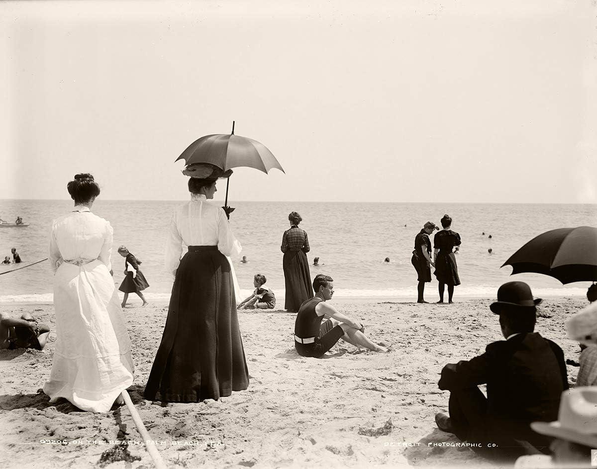00-1910 Palm Beach Florida Vintage Photograph Instant Download Art & Collectibles Black & White keyforrest.lt