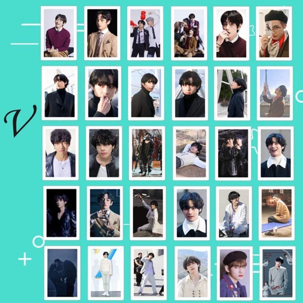 7 Photo Lomo Cards Zhenzhiao Kpop Card MAP of The Soul per confezione carta adesiva con clip e corda di canapa set regalo per A.R.M.Y 30 pz//set 1 unit