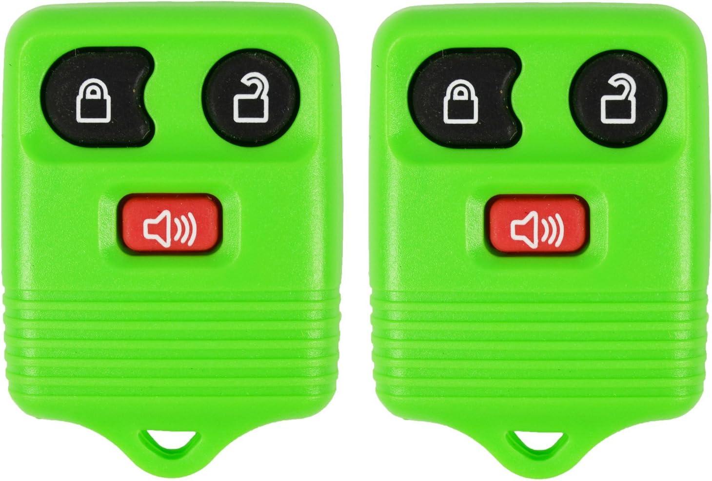 CWTWB1U331 FREE KEYTAG 2 Green QualityKeylessPlus Remote Replacement 3 Button Keyless Entry FCC ID
