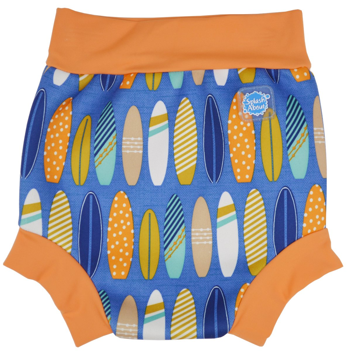 Splash About Kids Reusable Swim Happy Nappy (Surfs Up, Medium (3-8 months)) HNSUM