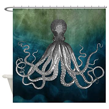 Amazon.com: CafePress - Octopus Shower Curtain - Decorative Fabric ...