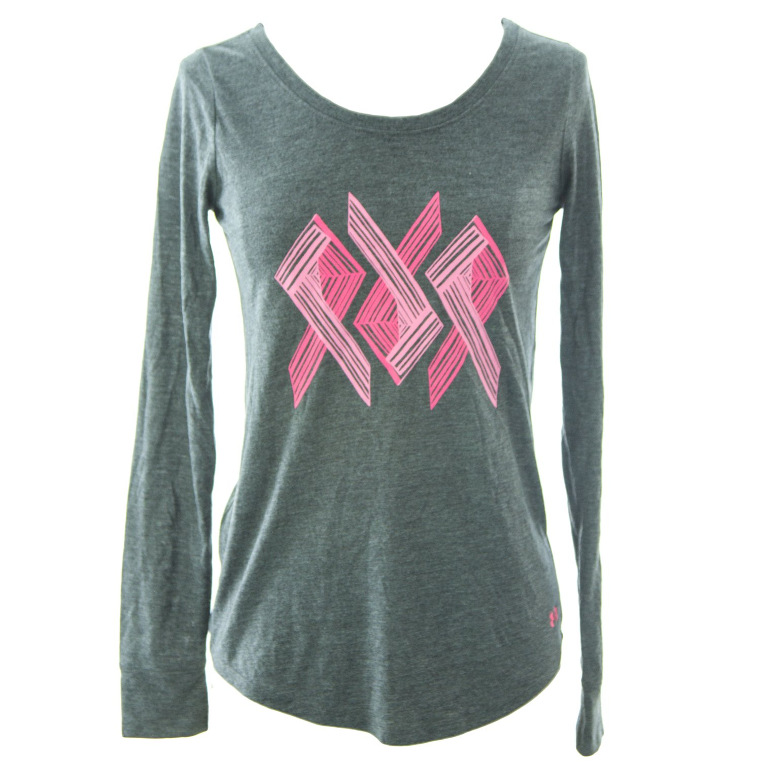 Under Armour UA Power In Pink Triple Ribbon XS Carbon Heather