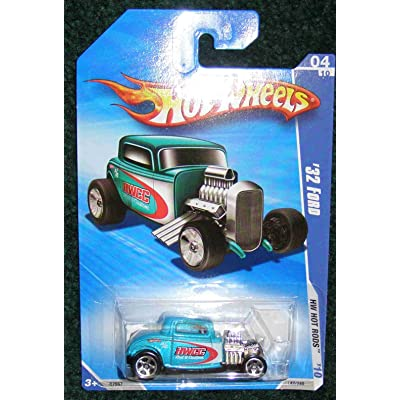 Hot Wheels 2010 HW HOT RODS HWCC Rod & Custom 04 of 10 Teal '32 Ford: Toys & Games
