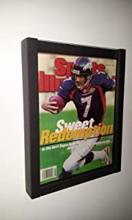 magazine display case shadow box frame for current illustrated magazine or comic book bh02 bl