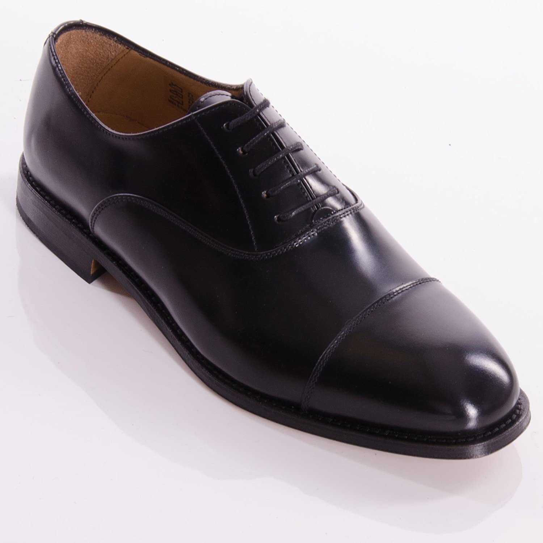 John White Oxford Black Polished Shoes