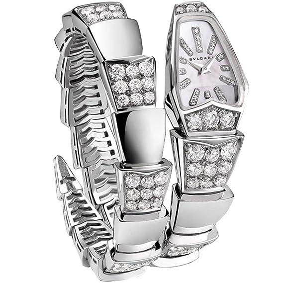 Bvlgari Serpenti Reloj de Mujer Diamante Cuarzo 101787 SPW26WGD1GD1.1T: Amazon.es: Relojes