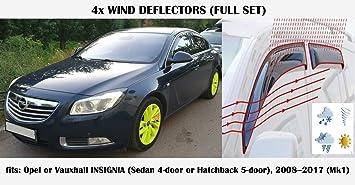Mrp Windabweiser Für Opel Vauxhall Insignia 4 Türer Limousine 2008 2009 2010 2011 2012 2013 2014 2015 2016 2017 Seitenvisier Auto