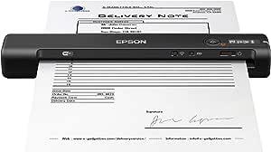 Epson WorkForce ES-60W, Escáner Portátil Inalámbrico con WiFi   Carga por USB   Conectividad por WiFi o USB