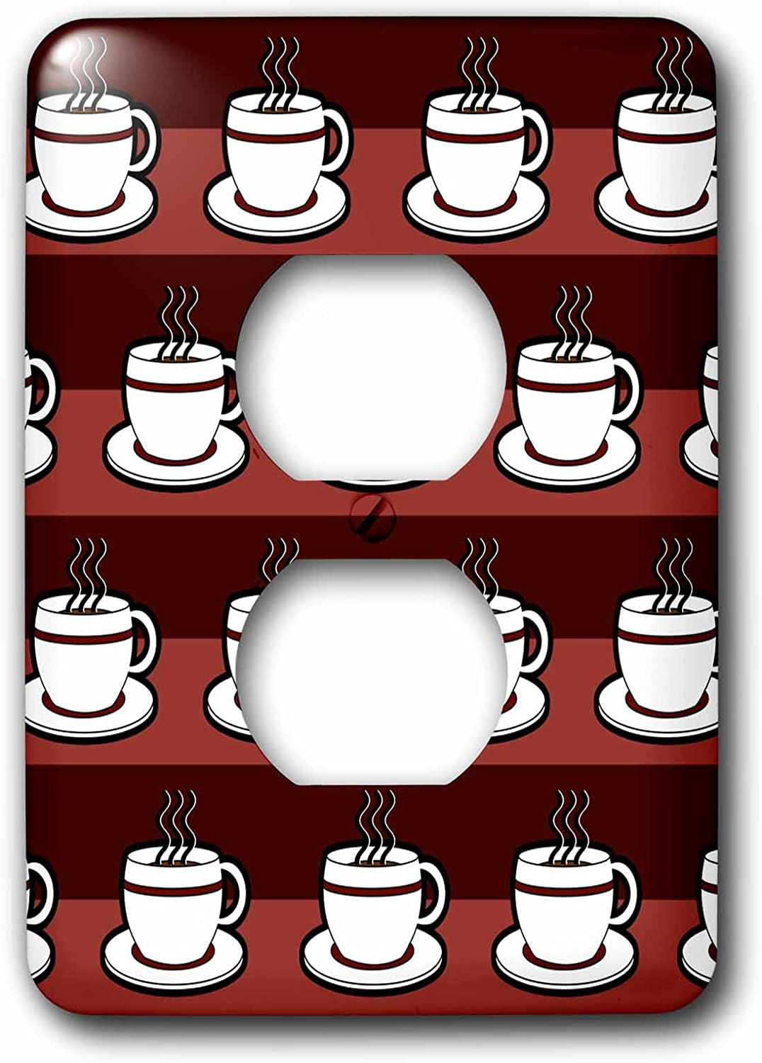 3drose Lsp 58654 6 Lover Gift Coffee Cups Print Red 2 Plug Outlet Cover Outlet Plates Amazon Com