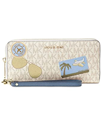 488ca77ac208 Image Unavailable. Image not available for. Color  MICHAEL Michael Kors  Illustrated Fly Away Travel Continental Wallet