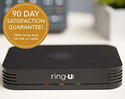 ring-u Hello Hub Small Business Phone System (PBX) and Service (VOIP)  Up  to 20 Lines and 50 Extensions  Keep Your Number! Set-up Easier Than a