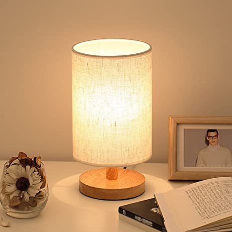 Captivating Wood Table Lamp, HQOON Bedside Table Lamps For Bedroom, Living Room,LED  Night