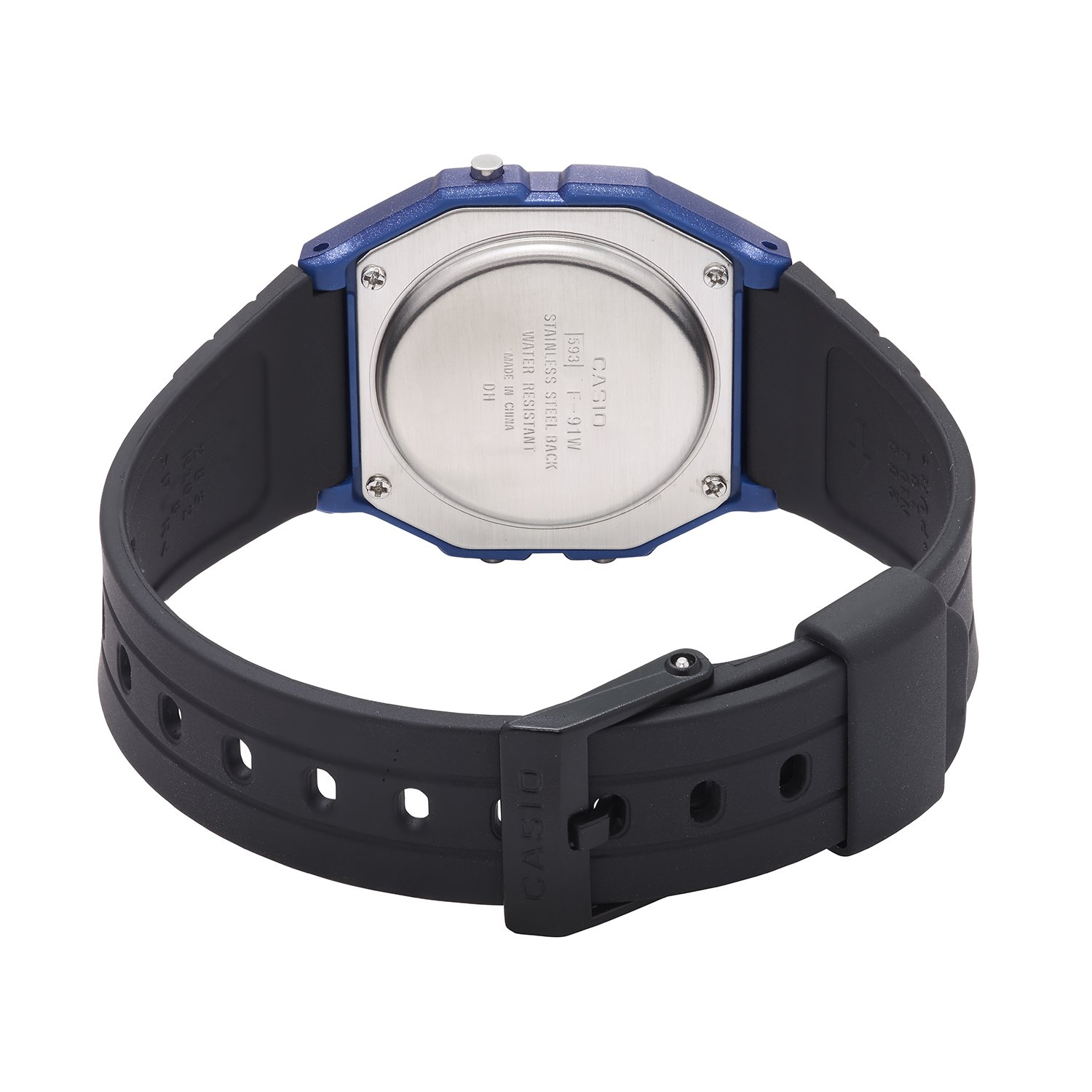 Amazon.com: Casio Mens Vintage Quartz Plastic and Resin Casual Watch, Color:Black (Model: F-91WM-2ACF): Watches
