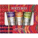 Burt's Bees Hand Cream Trio Holiday Gift Set, Shea Butter Hand Creams - Lavender & Honey, Orange Blossom & Pistachio & Rosemary & Lemon