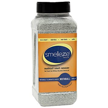 SMELLEZE Natural Moth Ball Smell Remover Deodorizer: 2 lb  Granules Gets  Mothball Fumes Out