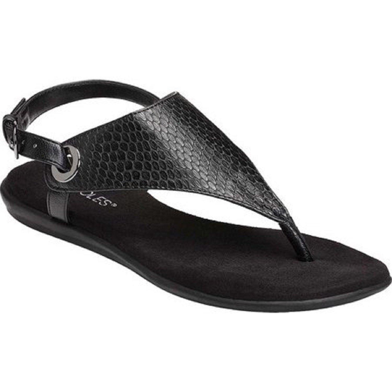 Aerosoles Women's Conchlusion Sandal, Black Exotic, 8 M US