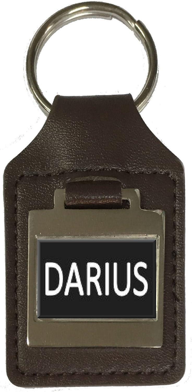 Leather Keyring Birthday Name Optional Engraving Darius