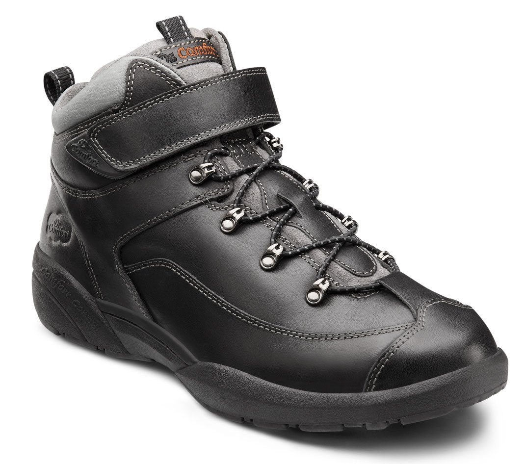 Dr. Comfort Ranger Men's Therapeutic Diabetic Extra Depth Hiking Boot: Black 15 X-Wide (3E/4E) Lace by Dr. Comfort (Image #1)