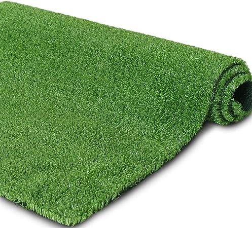 AQAWAS Cesped sintético Hierba Alfombra para el jardín, Alfombra De Cesped Fácil De Limpiar Y Guardar, Césped Artificial No Tóxico el 1CM, para Jardines Al Aire Libre,Green_1x2m/3x6ft: Amazon.es: Hogar