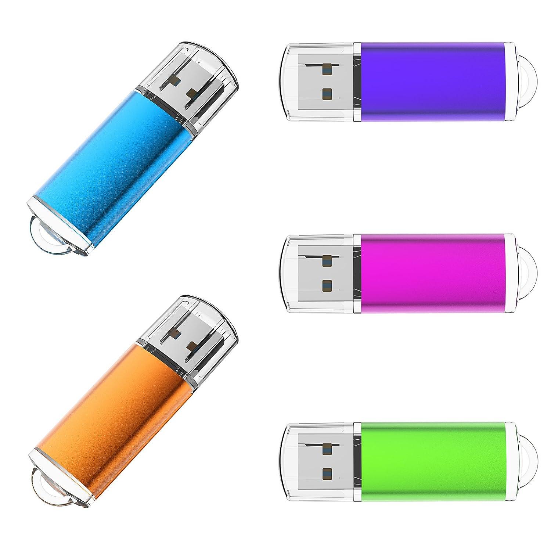 KOOTION 2Pack USB Flash Drive 64GB Memory Stick Storage Pen Drive (Mixed Colors: Pink Green) U215-GF2-64G-CA