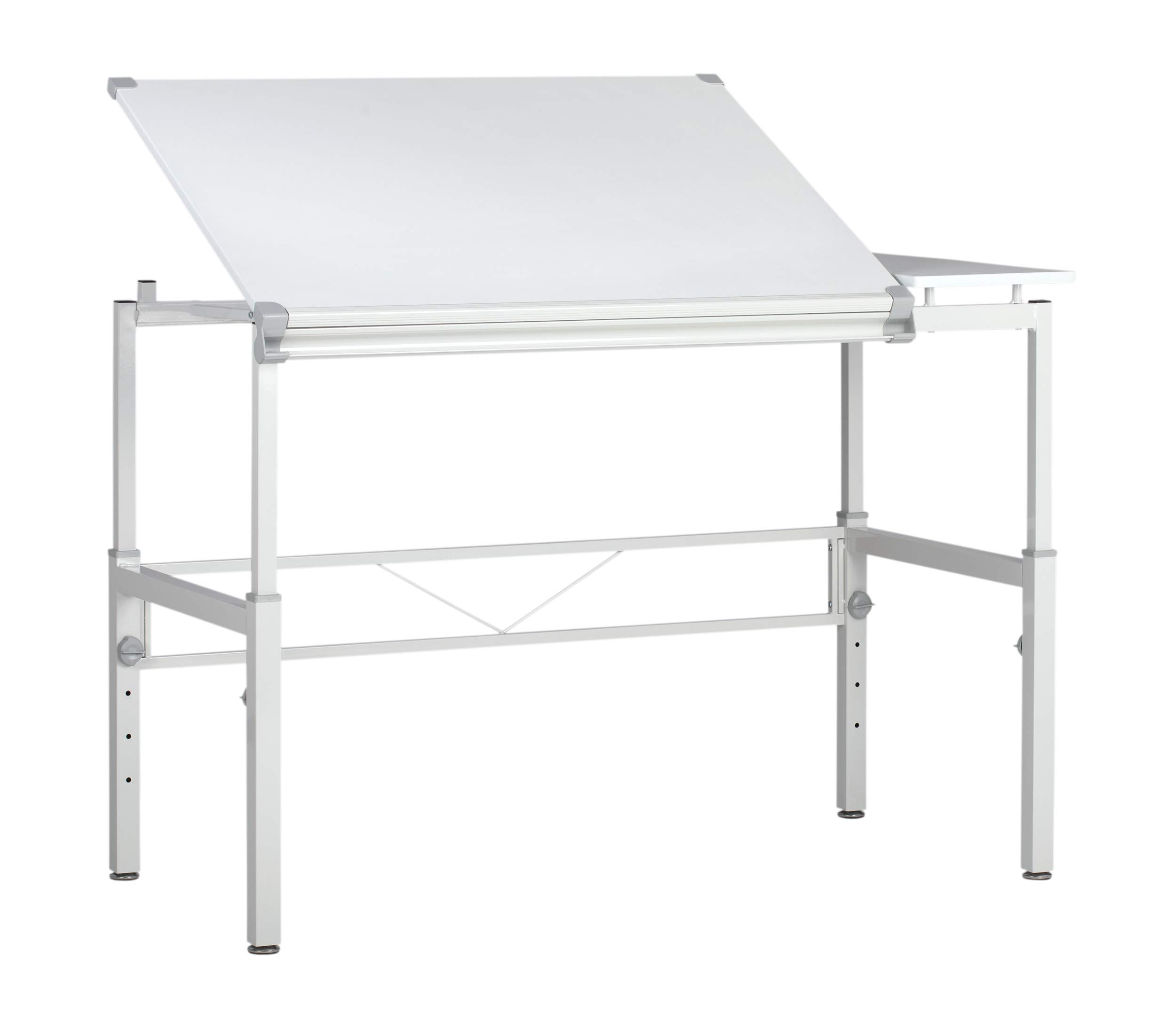 STUDIO DESIGNS Graphix II Workstation, 53.75''W x 31.25''D x 27'' - 38.75''H White/Gray 10210 by SD STUDIO DESIGNS