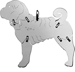 SHAR PEI Hunde Tier-Anhänger Medium 925 Sterling Silber Charm Schmuck 052CM