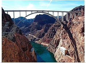 "GREATBIGCANVAS View of Bridge Behind Hoover Dam. Poster Print, 40""x30"""