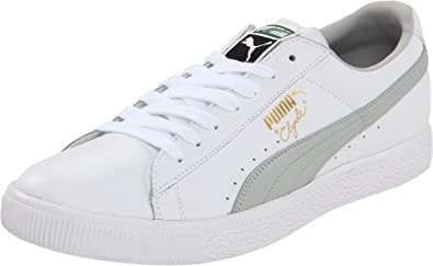 reputable site edfdb 1c5ed Puma Clyde Leather Fs Lace-Up Fashion Sneaker, White/Gray ...