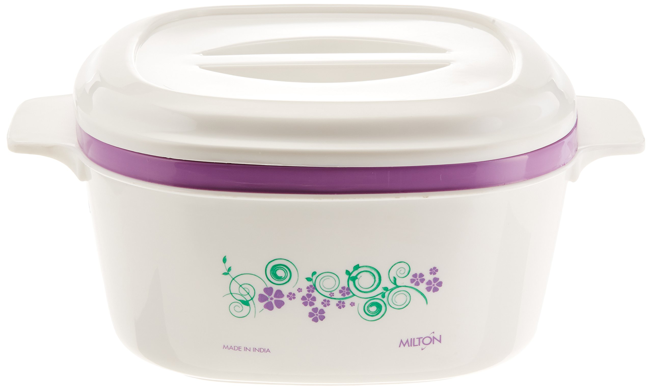Milton Casino Hot Pot Keep Warm/Cold Insulated Casserole with Stainless Steel Insert, 2300ml/Small, White