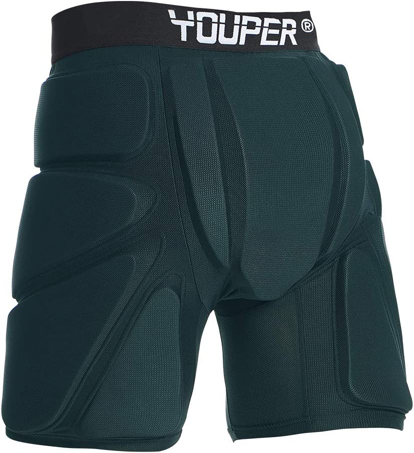 Youper Protective Padded Shorts for Ski, Snowboard, Skate & Roller Sports, 3D Protection for Butt, Hip & Tailbone : Sports & Outdoors