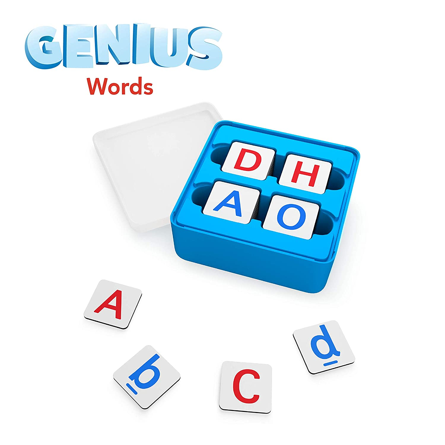 Osmo - Genius Words Game - Ages 6-10 - Interactive Letter Recognition, Phonics, Sight Words & Spelling - For iPad or Fire Tablet (Osmo Base Required)