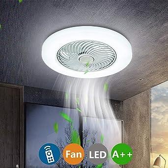 Ventilador de Techo Luz Con LED Iluminación, 38W Moderno Regulable ...