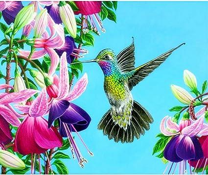 DIY 5D Diamond Painting Kit Full Drill Cross Stitch Art Craft Decor Hummingbird