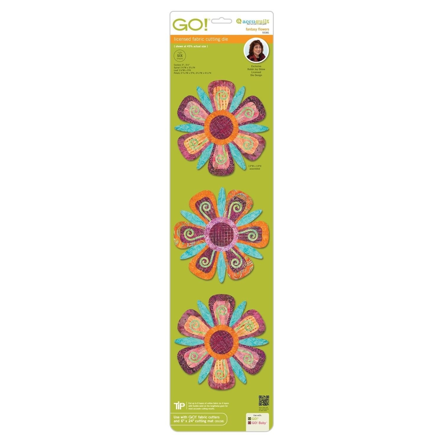 Amazon Accuquilt Go Fantasy Flowers By Robbi Joy Eklow Home