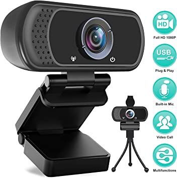 Fast Auto Focus Webcam Recording Conferencing Computer Camera Web Camera PC Webcam for Gaming 1080P Webcam with Microphone Video Calling